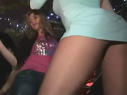 Upskirt In The Club With No Panties